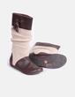 Bota marrón detalle en lana beis Pull&Bear