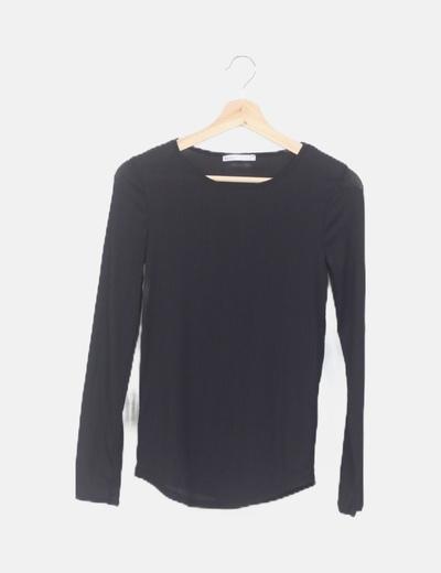 Camiseta fluida negra