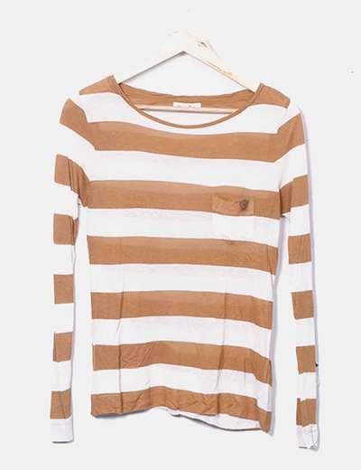 Camiseta raya bicolor