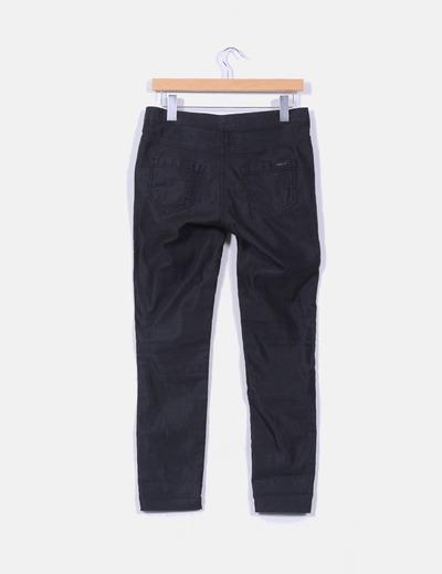 Jeans pitillo negro detalle brillo