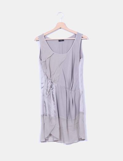 Conjunto vestido combinado y leggings plateado Crea Concept