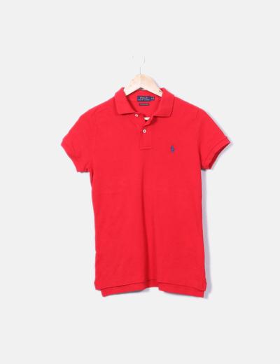 ... Ralph Lauren   Polo rouge à manches courtes. Polo rojo manga corta e14a96480b19