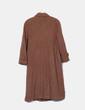 Manteau marron long boutonné NoName