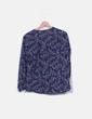 Blusa azul marina estampada Sfera