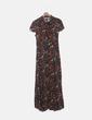 Maxi vestido floral abotonado Zara