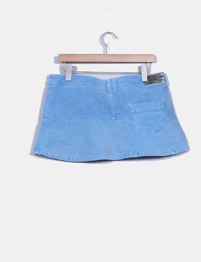 Mini falda vaquera color azul cielo