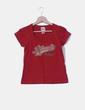 Camiseta manga corta roja  XDYE