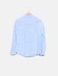 Blusa azul detalles plisados Zara