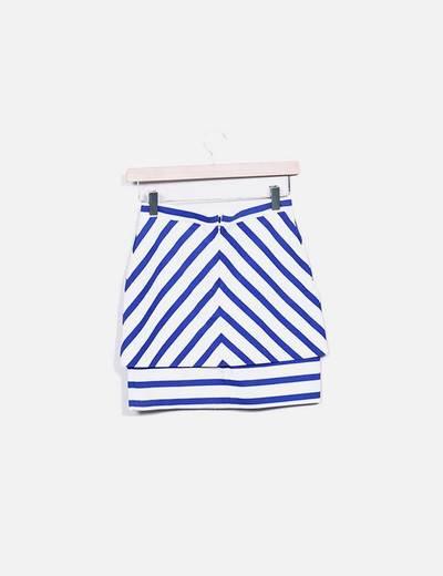 Minifalda rayas azul y blanco