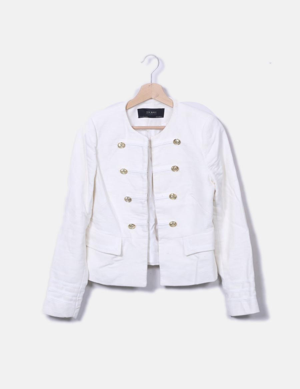 Botones De Militares Chaquetas Abrigos Baratos Y Abrigo Blanco Mujer FFqT8