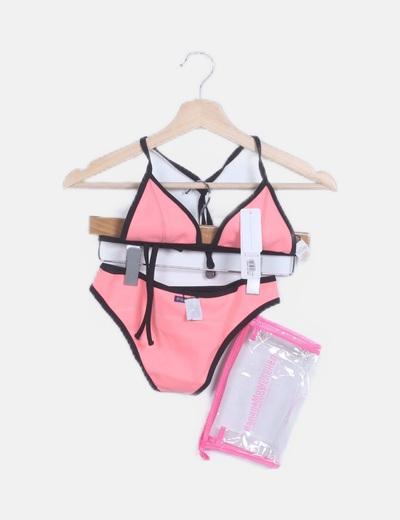 Bikini neopreno rosa combinado