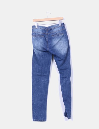 Pantalon ancho tono medio