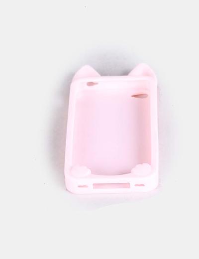 Carcasa de iphone cat ears rosa claro