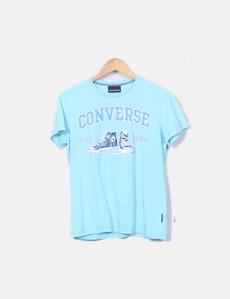 Maglietta a con shorts stampata Converse dd30627afe2