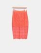 Falda midi naranja de crochet Lavish Alice