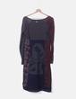 Vestido combinado gris print Love & love