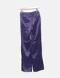 Pantalón satén estampado morado Massimo Dutti