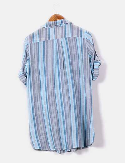 Camisola de rayas tonos azules y grises
