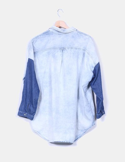 Camisa denim oversize degradado