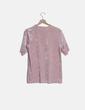 Camiseta larga terciopelo rosa H&M