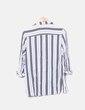 Camisa fluida blanca rayas negras H&M