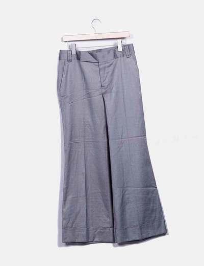Pantalón chino gris recto