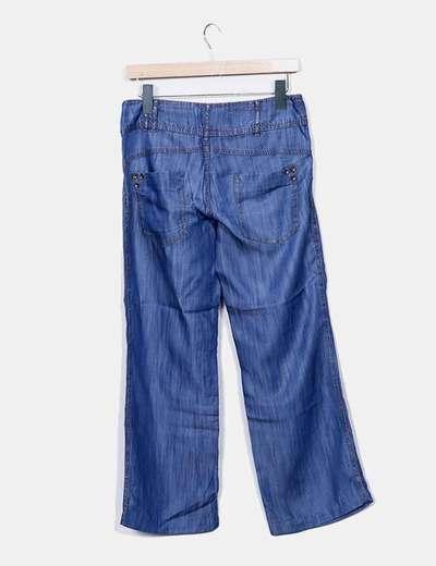Pantalon denim azul