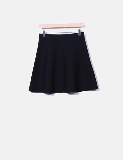 8d0478323 Zara Minifalda con vuelo negra (descuento 75%) - Micolet