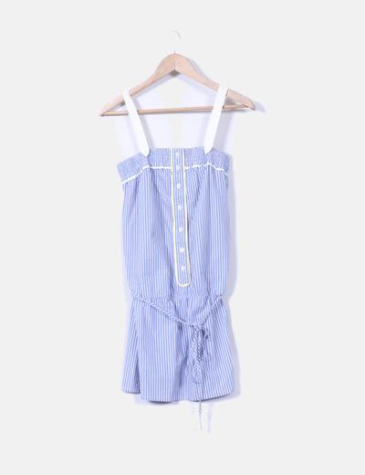 Vestido mini de rayas azules  Pepe Jeans