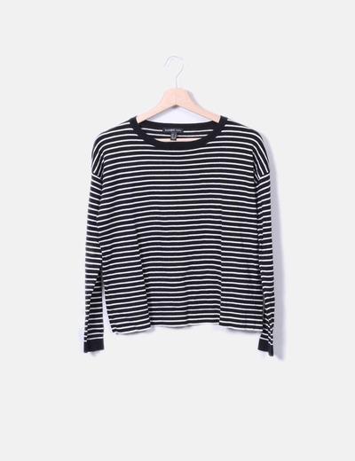 Jersey de rayas blanco y negro