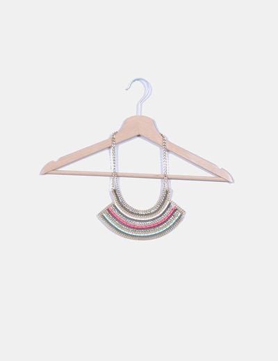 Collar multicolor con strass NoName