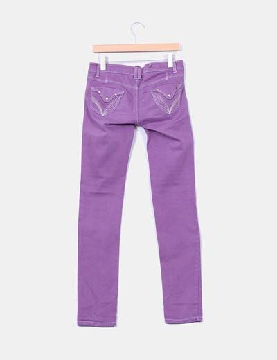 Jeans denim morado