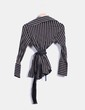 Camisa negra a rayas   Zara