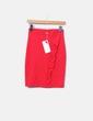 Falda tubo midi roja con volante Sense