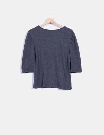 Top tricot gris abotonable