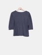 Top tricot gris abotonable H&M