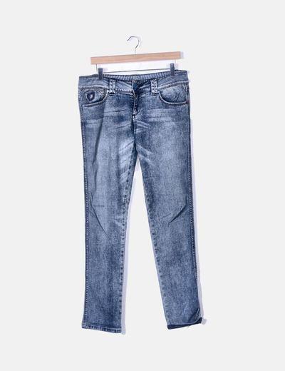 Jeans denim azul desgastado