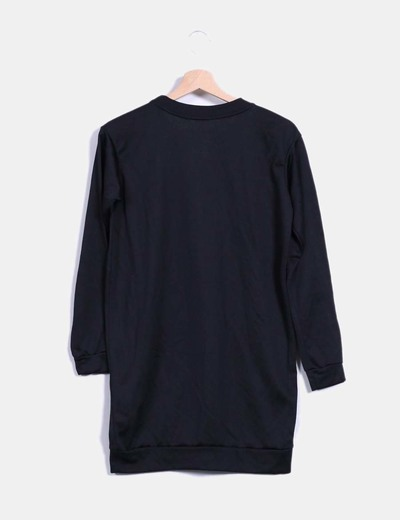 Vestido deportivo negro print
