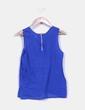 Blusa azul klein  con bordados Sfera