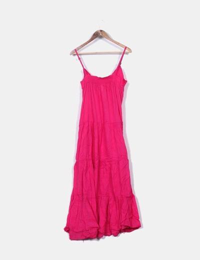 Vestido maxi rosa