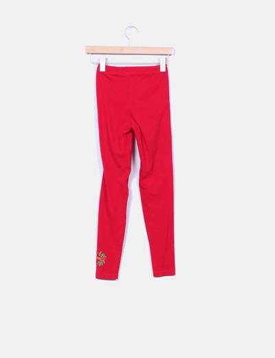 Leggings rojo detalle bordado