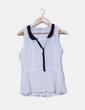 Blusa blanca semitransparente detalle negro ONLY