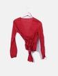 Blusa roja cruzada Massimo Dutti