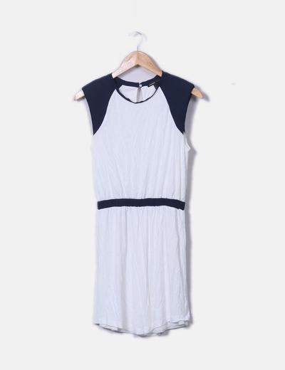 Vestido bicolor sin mangas