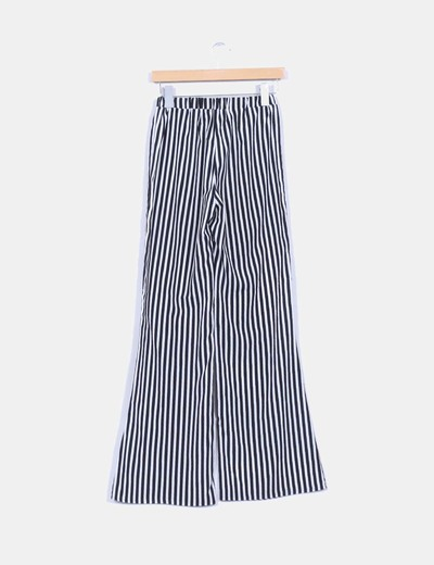 Pantalon bicolor de rayas
