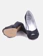 Zapato de tacón negro satinado MayFran