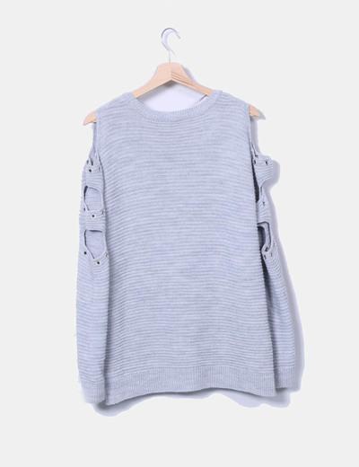 Jersey de punto grueso gris