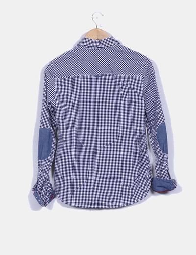 Camisa cuadros blancos y azules