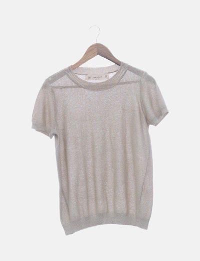 Camiseta tricot con lurex