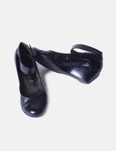 Zapatos Cuña Al Con Atados Tobillo kwOXZuiTlP